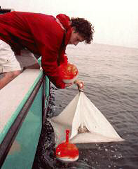 UCSB researcher launches computerized drifter off Montecito outfall, 2007