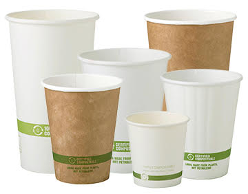 These are biodegradable cups that can take the place of Styrofoam