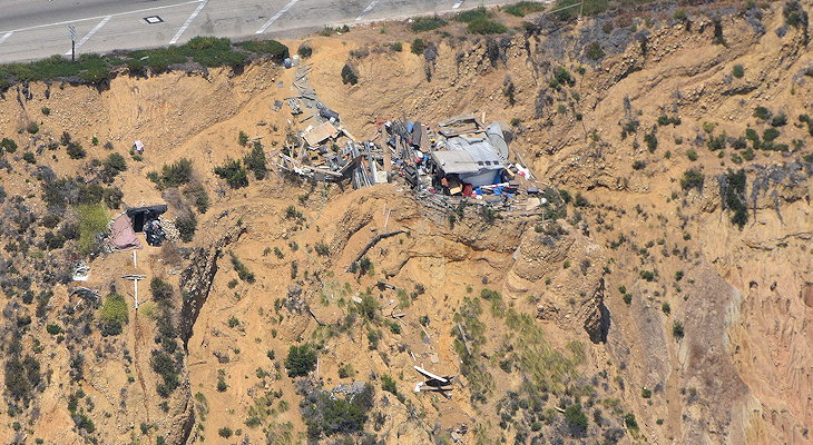 Drone picture of Summerland homeless camp 2017.