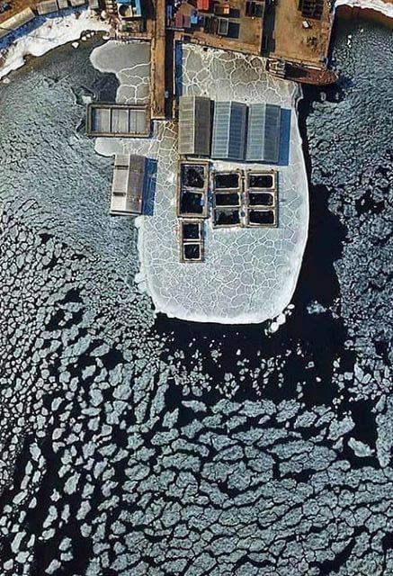 Whale Jail in Sredyaya Bay, Russia