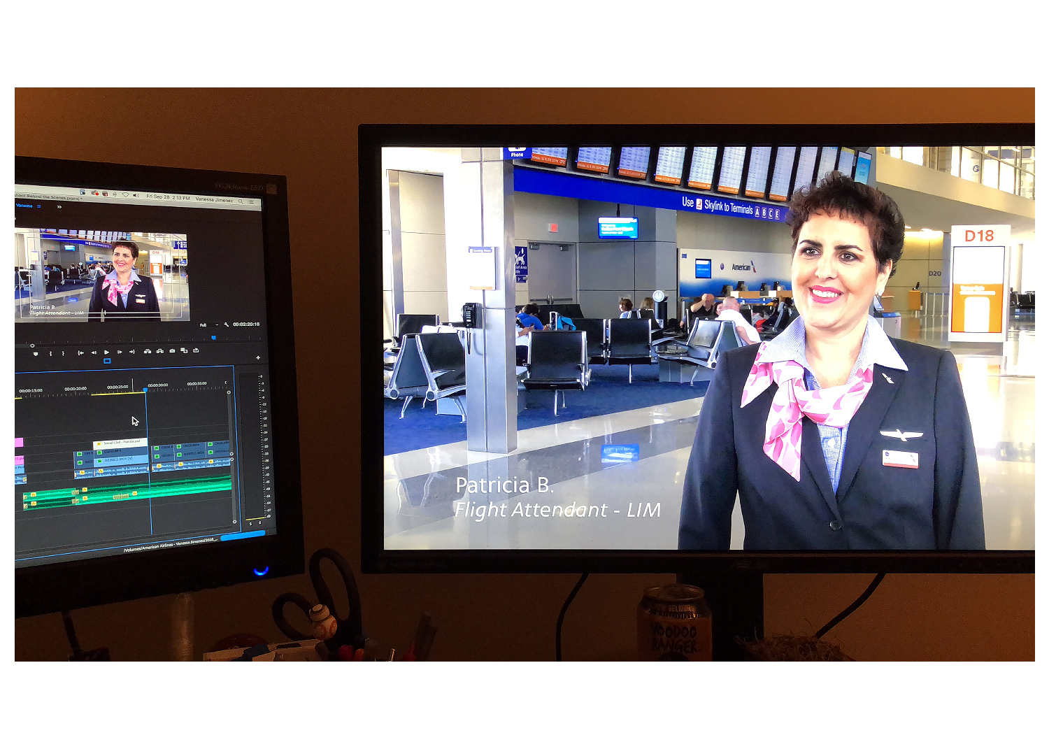 Be Pink - Breast Cancer Awareness Month - Editing Sequence (DFW Airport)
