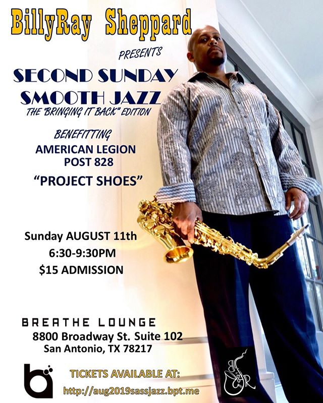 Super Stoked for Second Sunday Smooth Jazz Concert Aug 11. Join us at Breathe Lounge 6:30pm. http://aug2019sassjazz.bpt.me