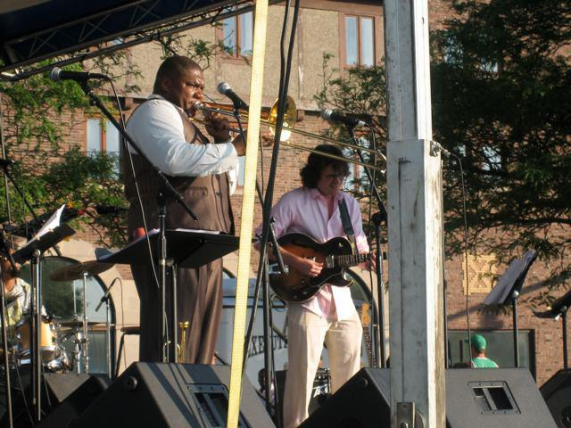 With Wycliffe Gordon, Gene Harris Jazz Festival, Benton Harbor, MI