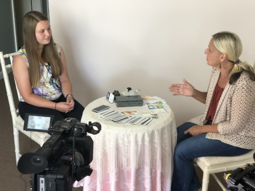 Behind the scenes of Tarot with Mary Clare