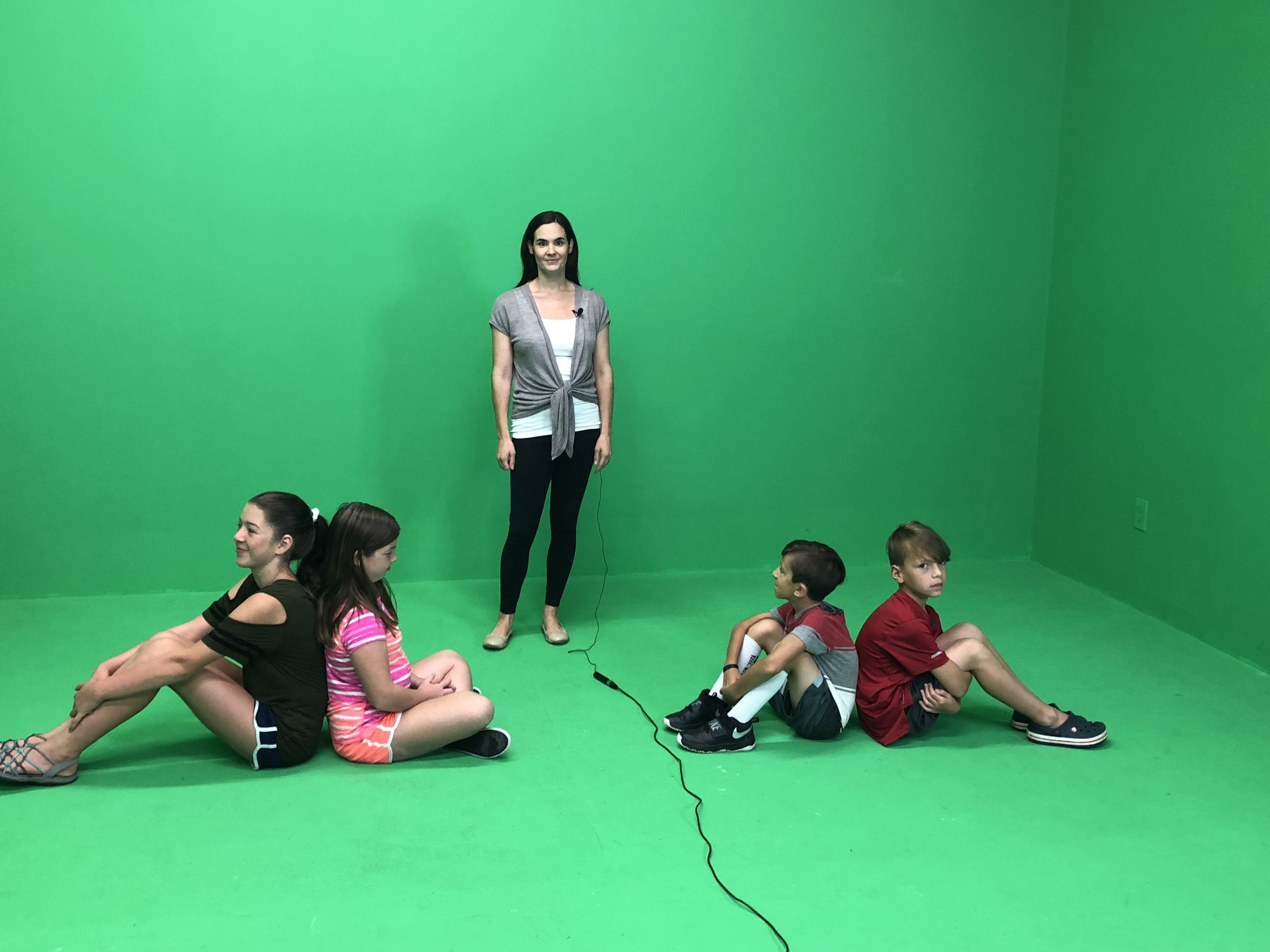 """Behind the scenes of """"Mindful Moments."""""""
