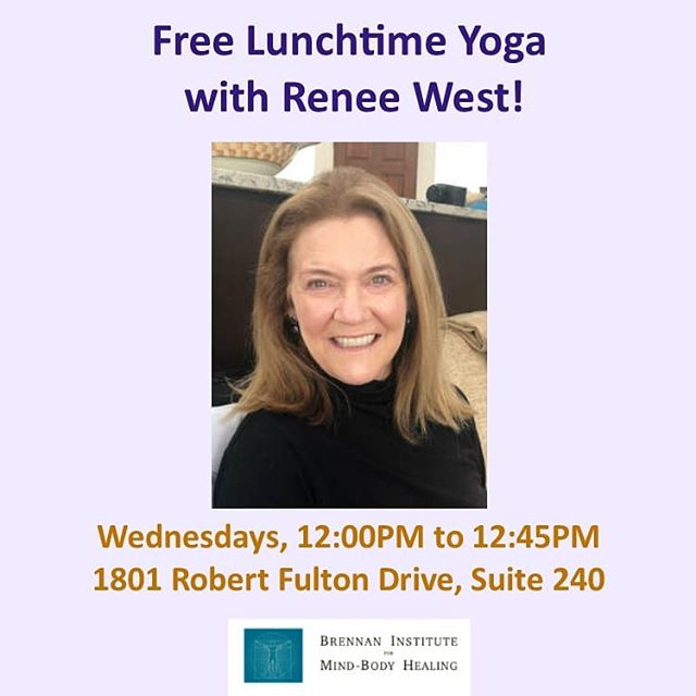 Hi folks! Are you looking for a mid-week recharge? Are you looking for ways to get away from your desk for a little while? Do you like to support worthy causes? If so, NovaPrana, along with the Brennan Institute for Mind Body Healing, is happy to invite you to join us on Wednesdays this summer for Free Lunchtime Yoga with Renee West! Sessions are in the lighter, yin style of gentle stretching, and maybe she might throw in a little flow every once in a while. It's a great way to set your intention for the rest of the week, and to take a little break from the office.  If you don't know Renee, she is a Certified Yoga Instructor with specialized teaching training in Yin Yoga. She completed her 200-hour certification through LifePower at Lifetime Yoga and her Yin training at Beloved Yoga--both in Reston, VA. Renee enjoys yoga vacations that take her to many different parts of this beautiful world. After a successful sales career in the corporate environment, she is excited to share her love and knowledge of yoga with her students. Fun fact - Renee was also a ranked runner in the Washington DC area for many years!  Come check it out. We're suggesting a $10 donation, all of which go directly to the ongoing support of this opportunity. We would love to see you there! Come check it out and see what you think. The class meets in Reston in 1801 Robert Fulton Drive, Suite 240. Yoga mats and supports are provided, just bring yourselves! Ample free parking is out front of the building. . . . #reston #yoga #yin #fairfax #freeyoga #community #yinyoga #restonva