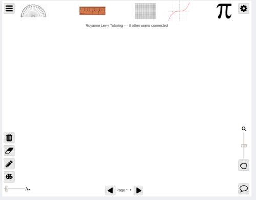 Shareable Online Whiteboard for Math Tutoring