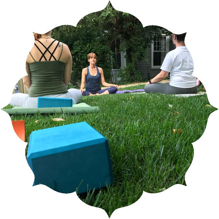 Yoga Nut Front Yard Yoga