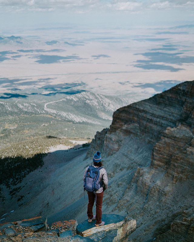 Looking down on the reality you left behind. . . Wheeler Peak 13,063 ft Elevation Great Basin National Park