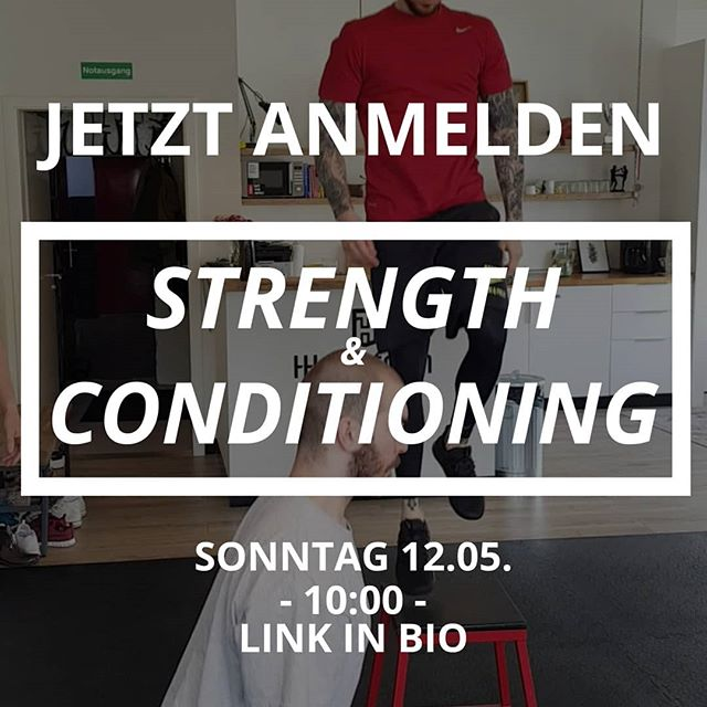 Noch schnell einen der letzten Plätze für Sonntag reservieren! Link in Bio. — Bei gutem Wetter draußen! — 🏋🏼‍♂️: Strength & Conditioning 🕙: 10:00-11:00 📍: HHometown Fitness 🎟: Anmeldung via Link in Bio (Probestunde kostenlos) — #health #fitness #fit #fitinhamburg #strengthandconditioning #hhometownfitness #fitnessaddict #fitspo #workout #bodybuilding #cardio #gym #train #training #health #healthy #instahealth #healthychoices #active #strong #motivation #ostern #determination #lifestyle #diet #getfit #cleaneating #eatclean #exercise