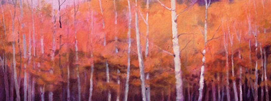 October Treescape Study - 14x36