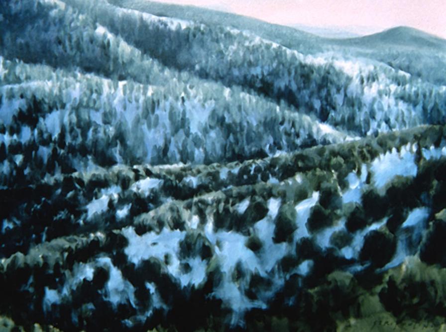 Snowy Foothills, Study - 30x40