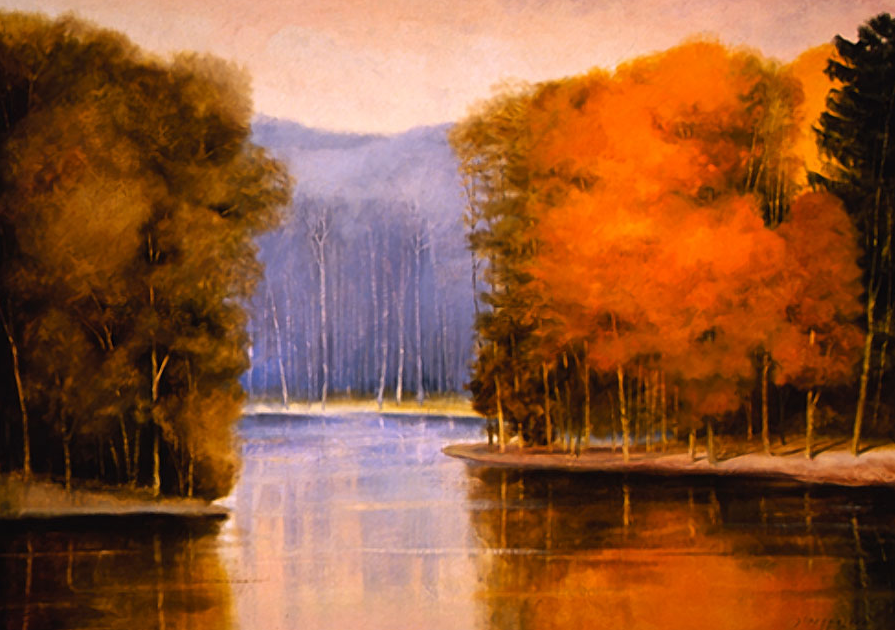 Light, Trees, Water II - 56x78