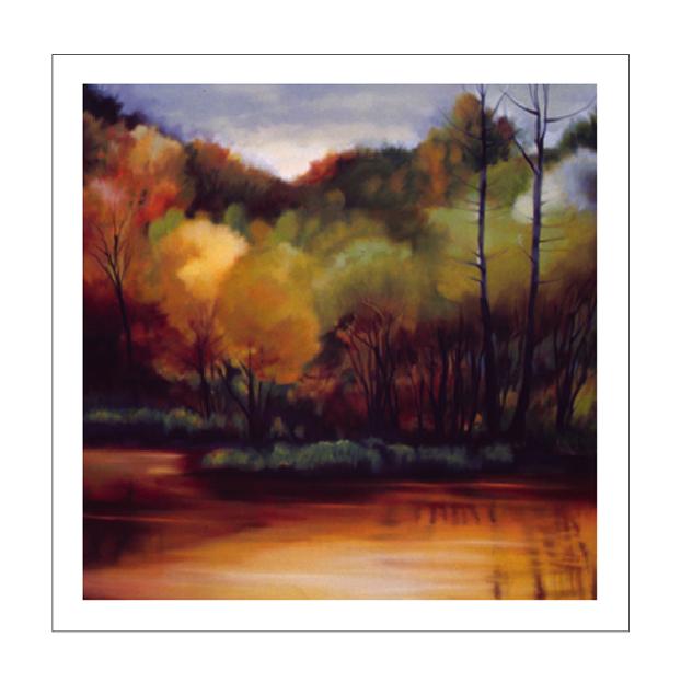 LAKESIDE TREES - 37x37