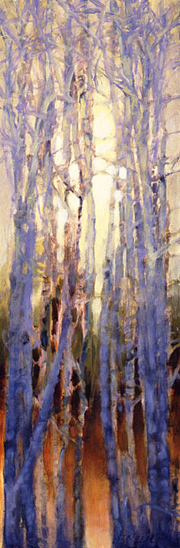 Tree Squeeze, Study #11 - 36x12 Sold