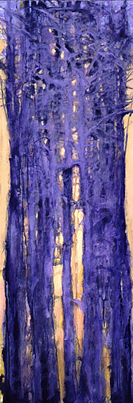 Tree Squeeze, Study #14 - 36x12 Sold