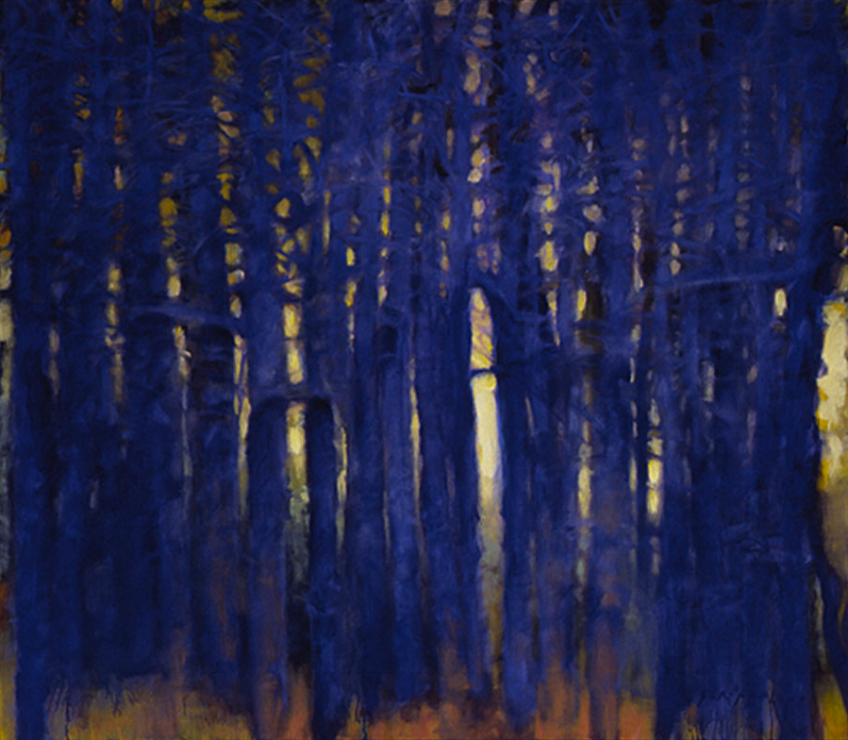 Blue Tree Forms - 42x48 Sold