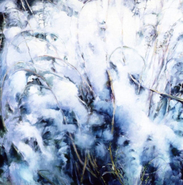 Snow and Grasses #2 - 56x56