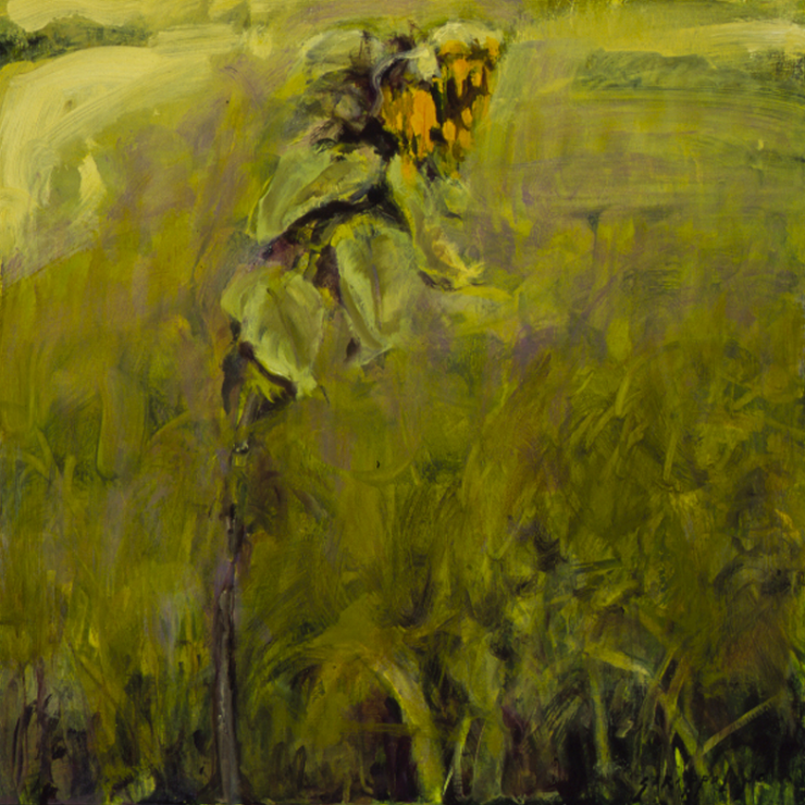 Sunflower In Field #3 - 18x18