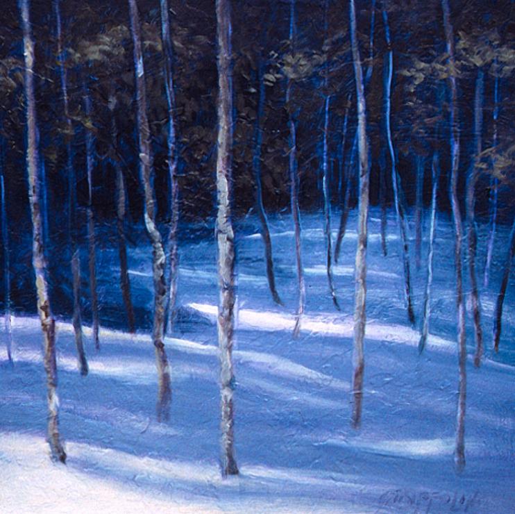 Snowy Wood Study - 12x12