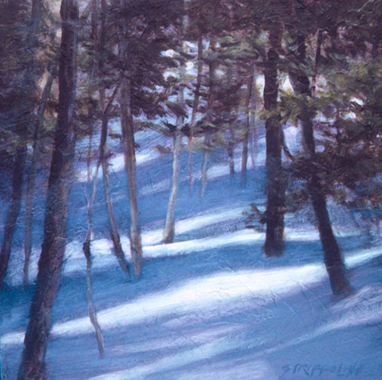 Deep Winter Shadows Study - 32x22