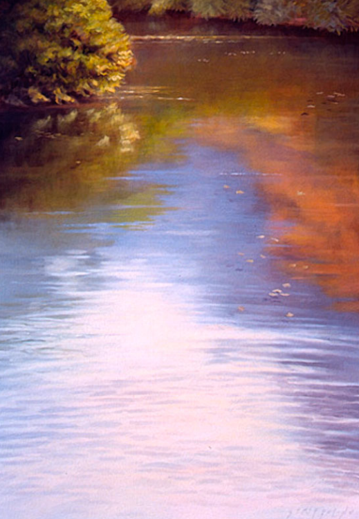 Waterscape with Shoreline III - 60x42