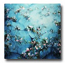 APPLE BLOSSOMS Image: 27.5 x 27.5, Paper: 27.5 x 27.5