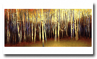 OCTOBER TREESCAPE Image: 16.5 x 38, Paper: 22.5 x 39