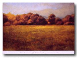 FIELD WITH TREELINE Image: 24 x 36, Paper: 26 x 36