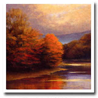 TRANQUIL RIVER BEND Image: 36 x 36, Paper: 39 x 39