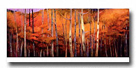 OCTOBER TREESCAPE Image: 12 x 36, Paper: 14.25 x 36