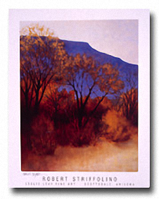 IN THE SHADOW OF THE MESA Image: 24.75 x 19.625, Paper: 30 x 24
