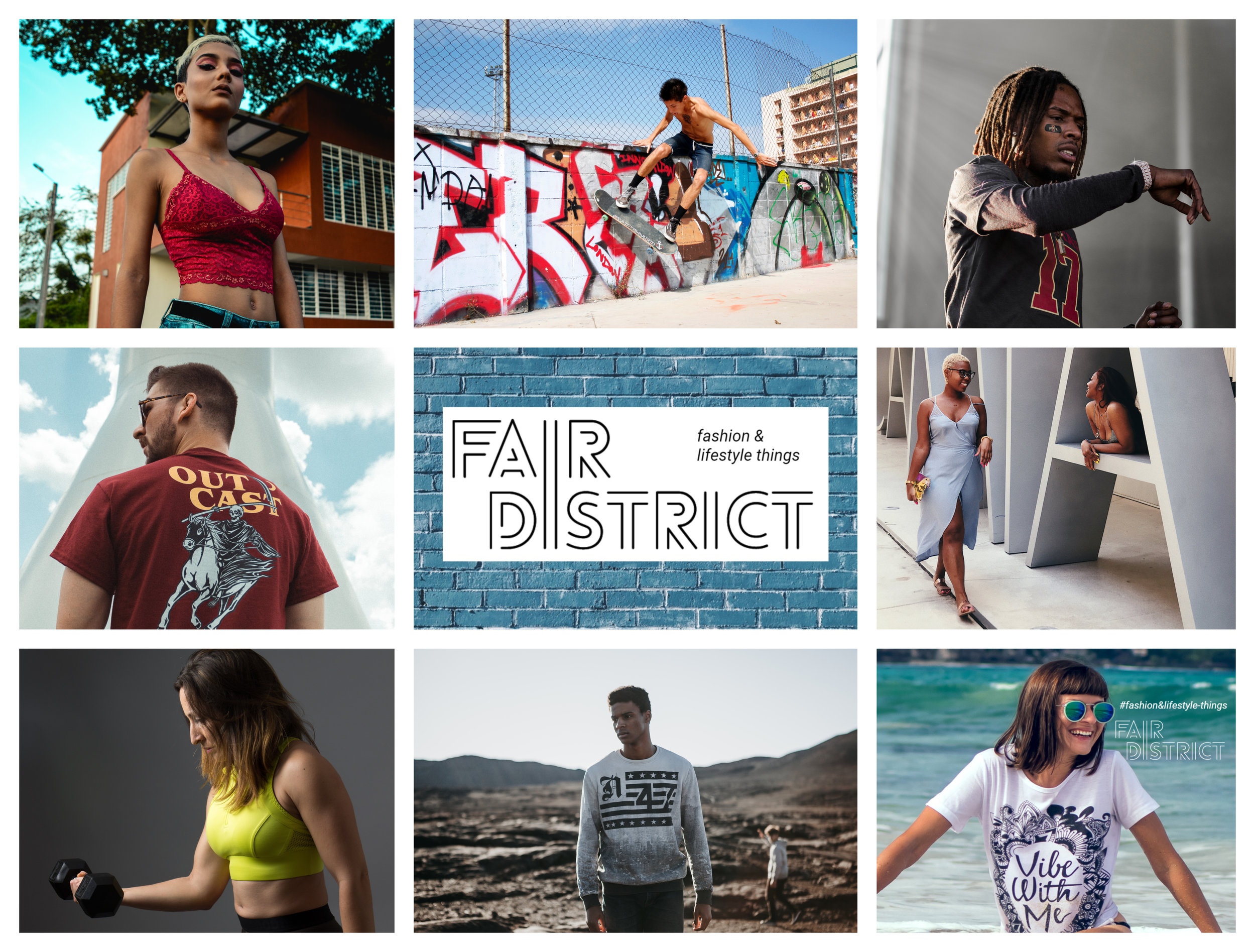 Our Story....  The idea of fairdistrict was born amongst a group of friends who are very passionate about life. Amongst them, you can count about two dozen active hobbies, from skydiving, to playing musical instruments (cello, piano, guitar, etc.), camping, globe trotting, fashion, etc.  And, while spending time together on a beach in California, it dawned on them, that there were no dedicated places (websites, mobile apps, etc.) for people like them to trade with other passionate people - A place where they can exchange ideas and trade fashion & lifestyle items with people of similar preferences.  And this is basically how FAIRDISTRICT was born...  So, what is fairdistrict?  Fairdistrict is a trading platform for fashion & lifestyle-items. It is a place where passionate people from all over the world can buy, sell, or exchange items & ideas that fit them.  So, who are we?  We are a group of passionate individuals whose sole mission in life is to help you live more passionately. We are fashionista's, campers, travelers, photographers, dj's, singers, rappers, producers, athletes, readers, socialites, beach bums, nerds, book worm's, surfers, etc. We believe that happiness is based on what you spend your time doing and not on how much money you have or pointless possessions. We believe that people who are high on life are the happiest people in the world; and that is why we've decided to create fairdistrict to help achieve that mission - A place for people who want to live passionately and help make each other happy.  So, long story short…  Welcome to Fairdistrict!!!  Fashion & lifestyle-items that fit you is almost here...  Stay tuned - We are COMING SOON!  Get 30% OFF on your first purchase if you SIGN UP today at  www.fairdistrict.com   Follow us on facebook, twitter, instagram, tumblr  Let us know your thoughts on our facebook page  Join the movement on our facebook community page  Follow our blog on  https://www.fairdistrict.com/blog