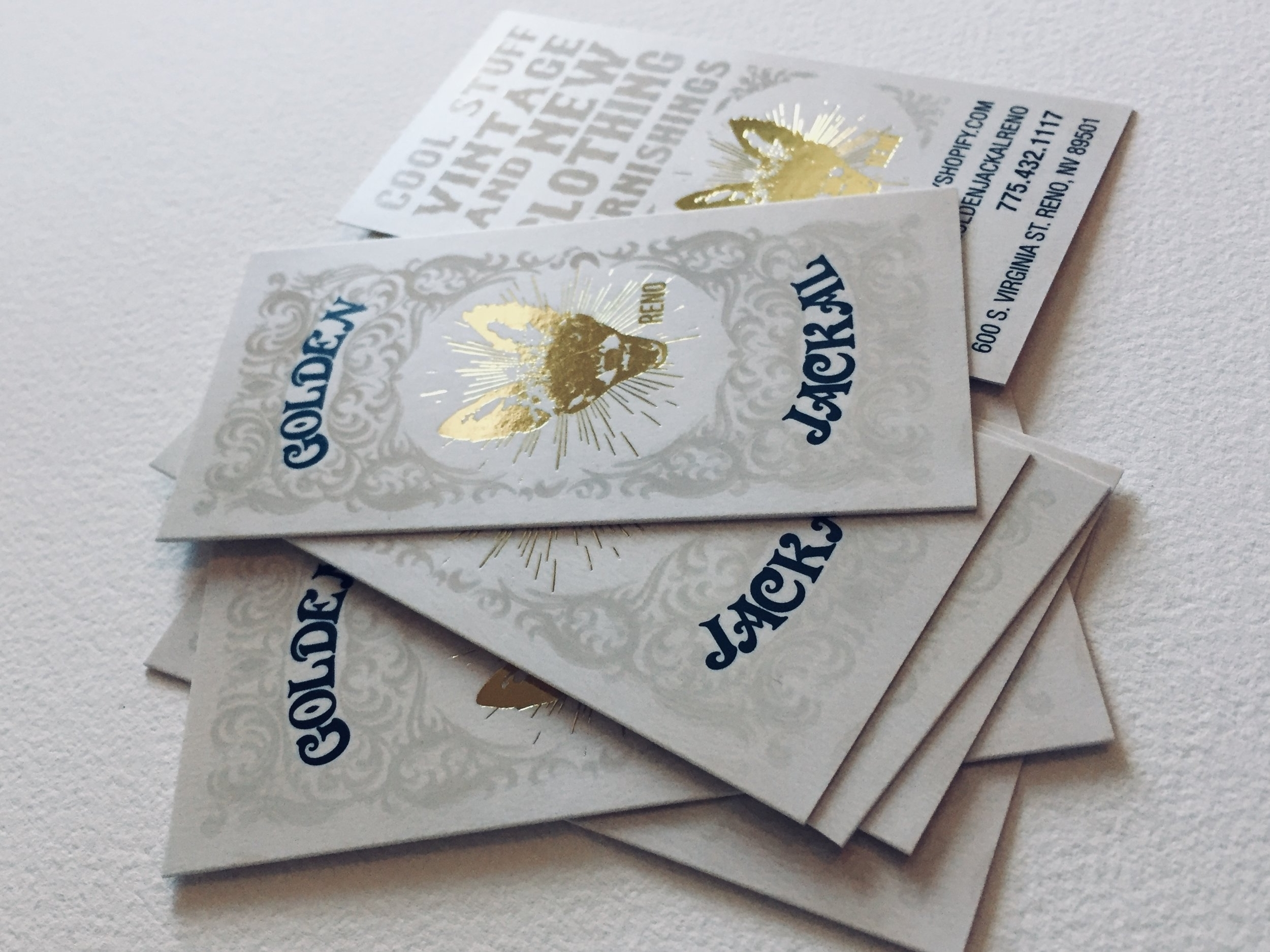 16pt Silk Laminated Cards with Gold Foil and Raised Spot UV