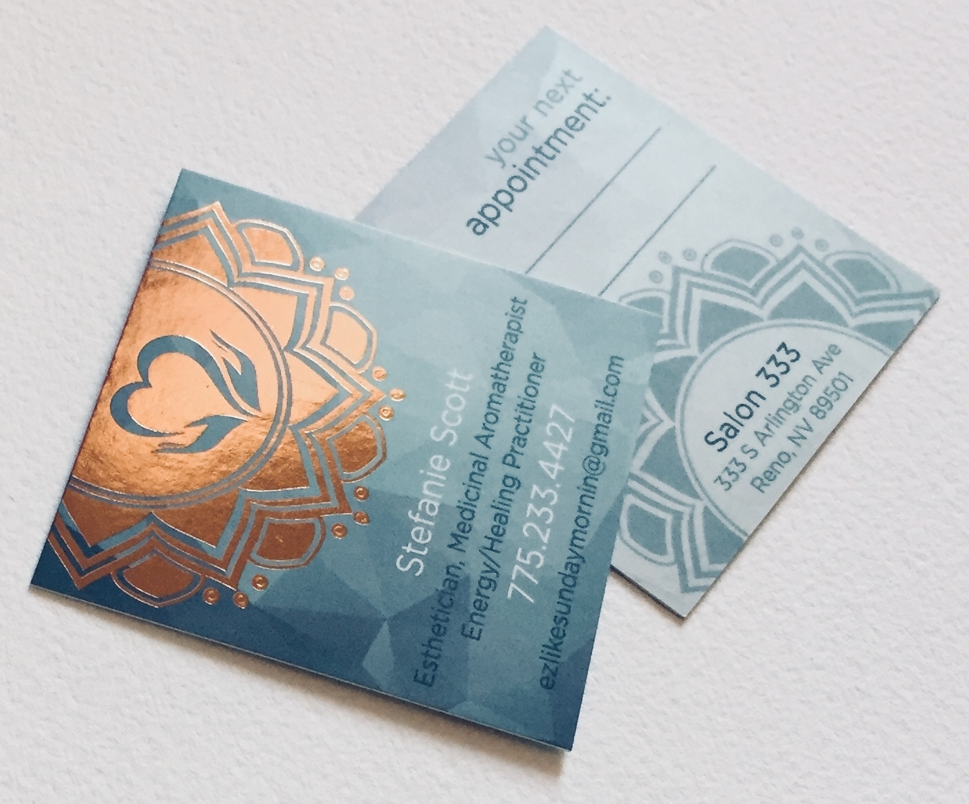 16pt Silk Laminated Cards with Copper Foil