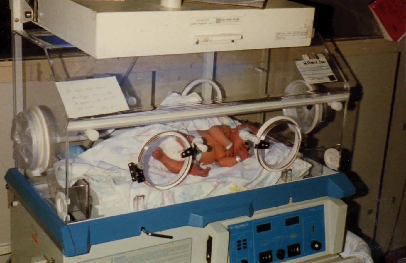 Here is this 4 lb 10 oz baby who was born with medical needs, lying in an incubator, who needed this liquid gold called Mother's Milk but I couldn't produce enough to provide for one feeding let alone the months that lay ahead.
