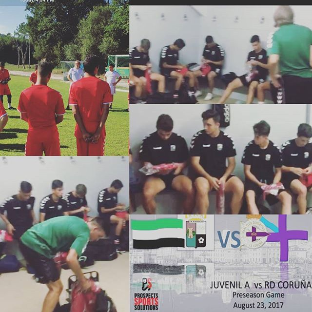 The Academy players had their first training at  #Abegondo ( Coruña) for tomorrow's preseason game.vs Deportivo.#trueimmersion