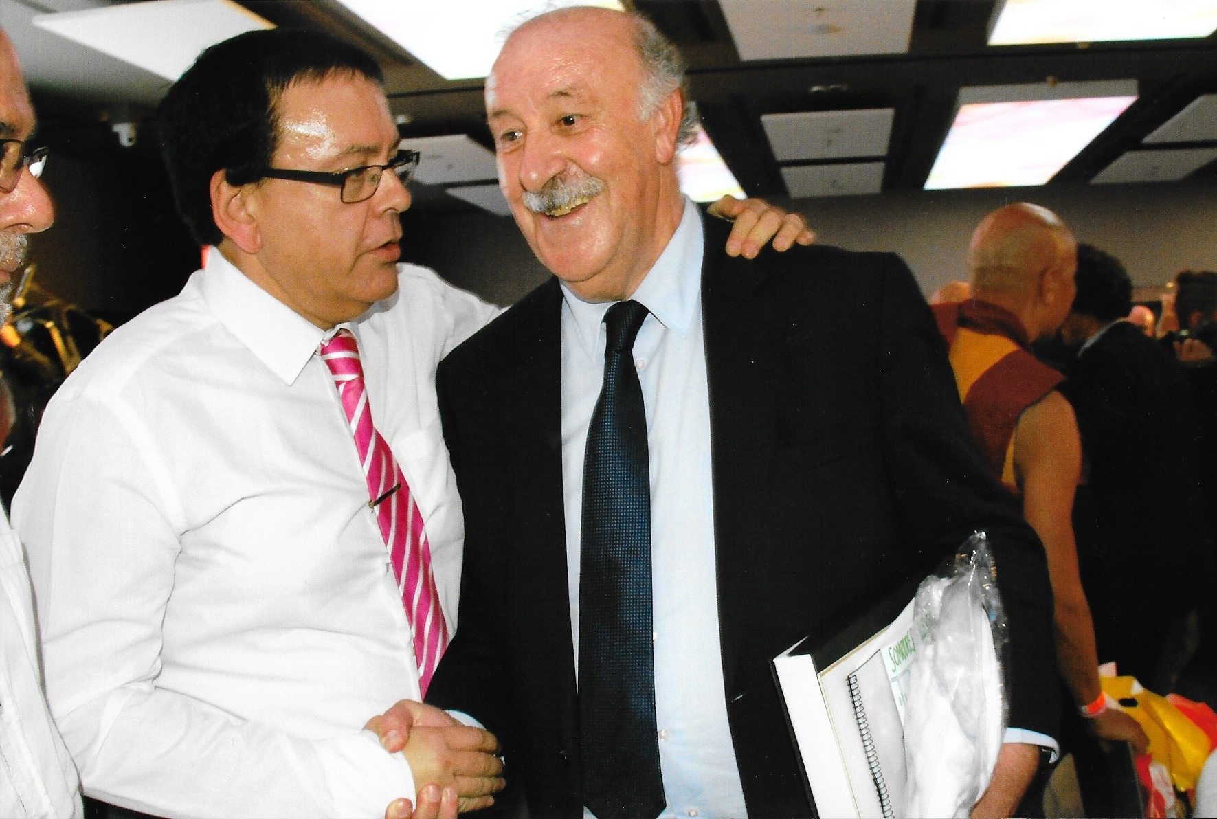 Manuel Romero & former Real Madrid coach and FIFA World Cup Spanish National team coach, Vicente del Bosque .