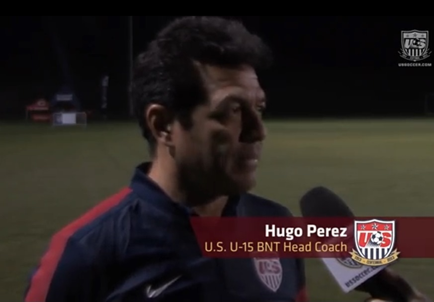 """I   think that's been a help and making sure that our players are getting recognized and they are playing and competing in the league. But I still think we can do a better job, especially in the Academy system, where you have to focus more on the development of the player than the result of the games."" Hugo Perez"