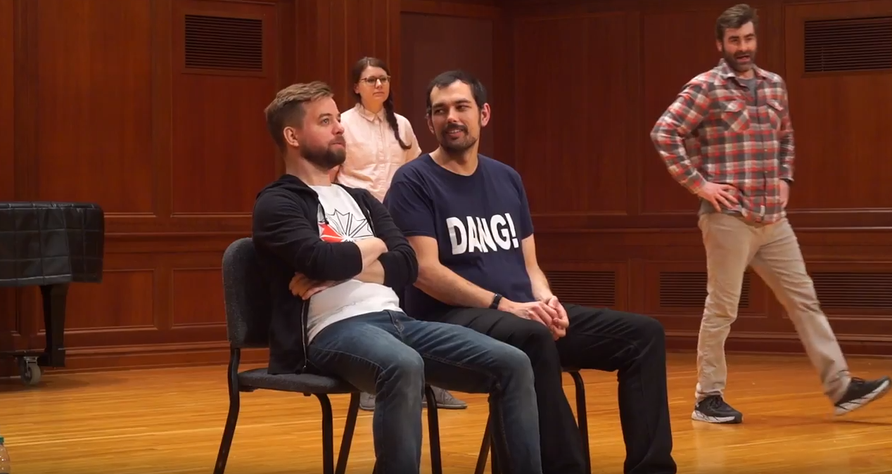 Clever Tagline About the Show - UCB's Life on Campus show has been touring colleges across the US since [YEAR]. Four improvisers at the top of their game interview a volunteer from the audience about life at your school.
