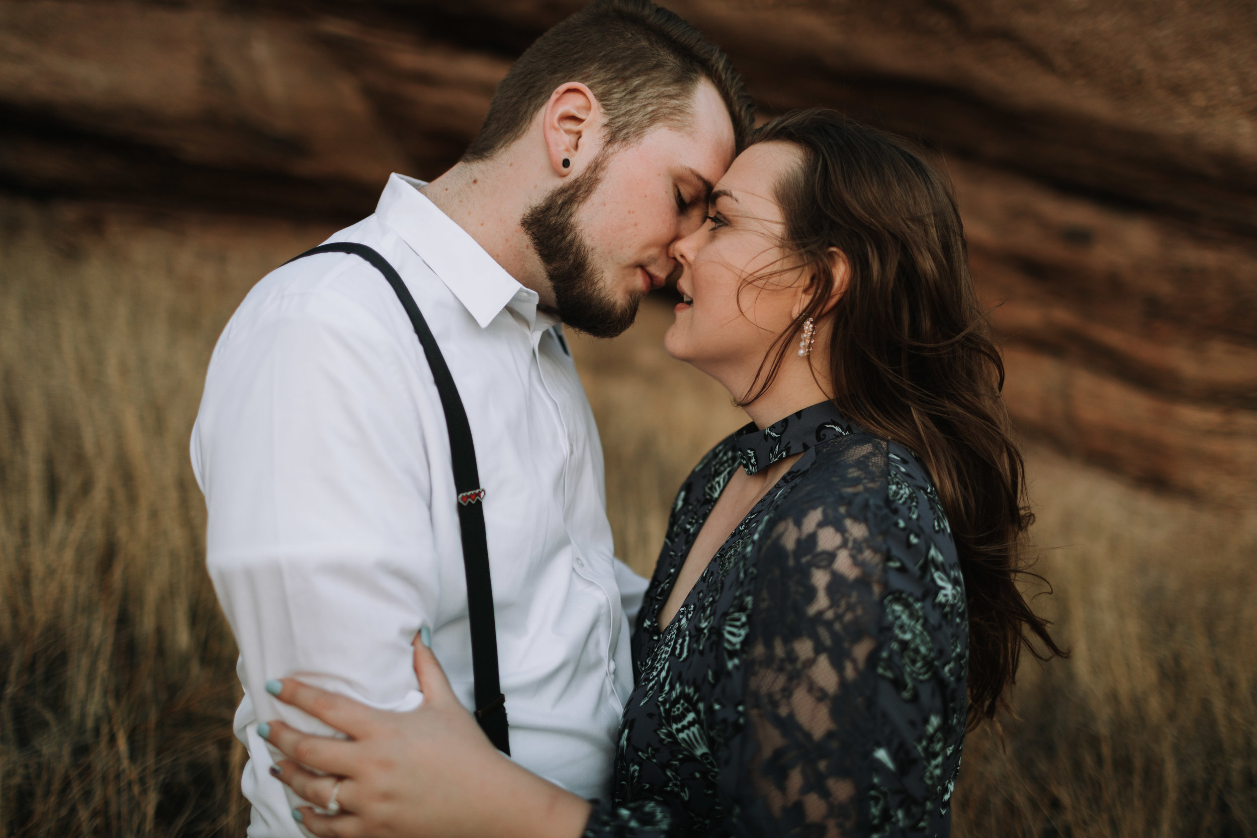 Zachary and Chelsea Engagement Shoot at Vasquez Rocks in California