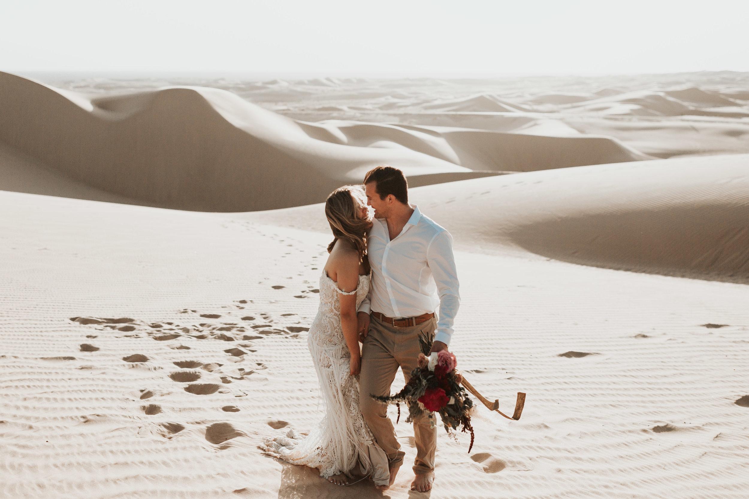 imperial sand dunes destination styled elopement