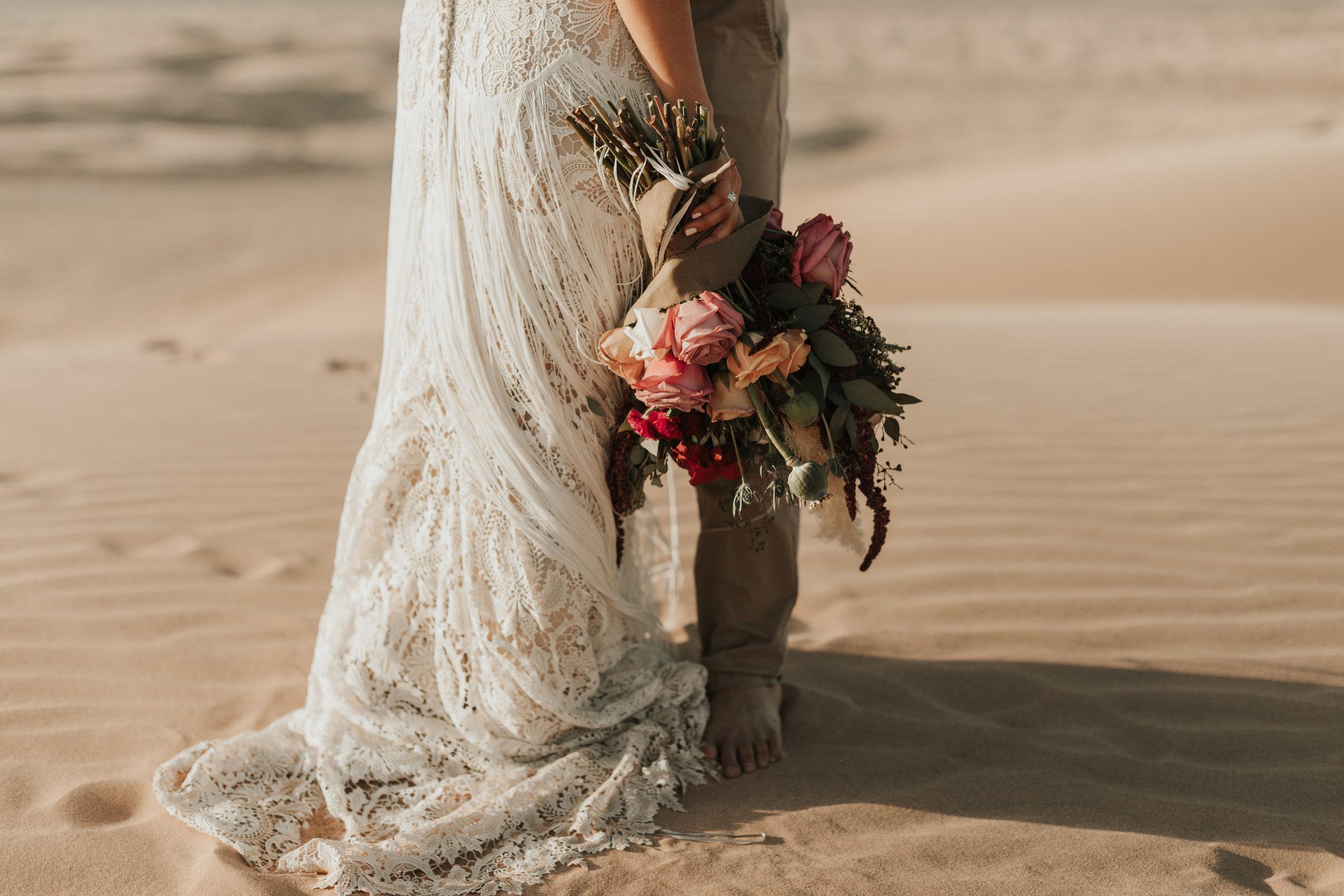 imperial sand dunes destination styled elopement wedding lillian west wedding gown fringe dress