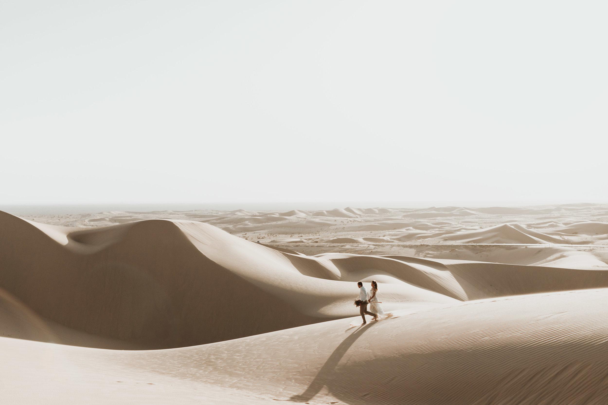 imperial sand dunes destination styled elopement wedding