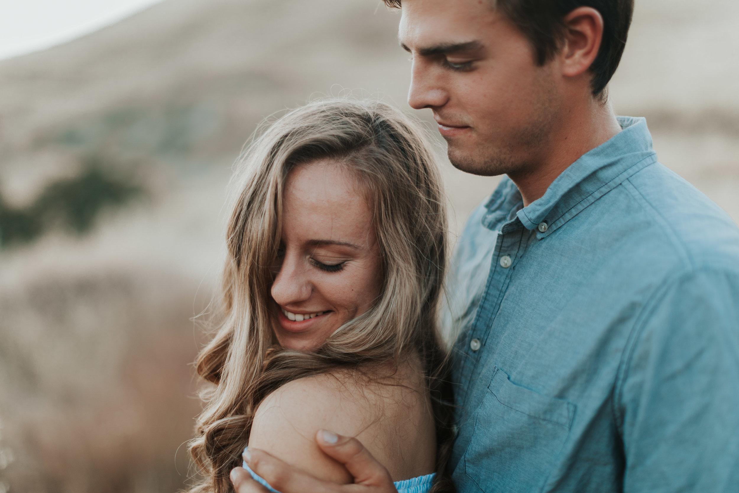 madi and caleb milerton lake fresno ca grass mountain couple love session