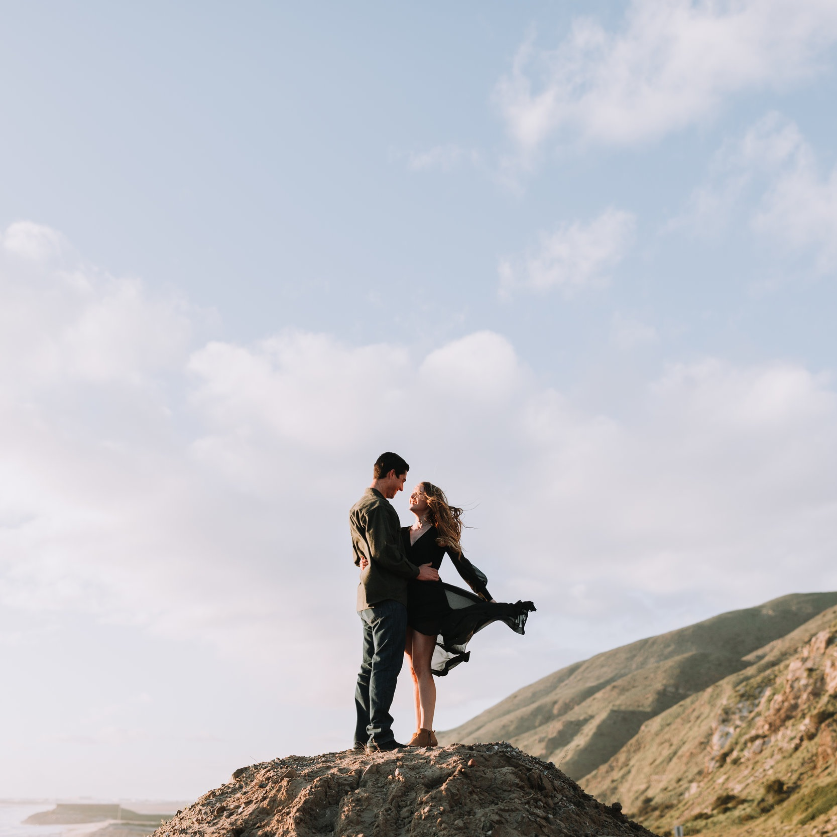 Kiana and Adam couples session at point mugu state park in malibu ca southern california los angeles