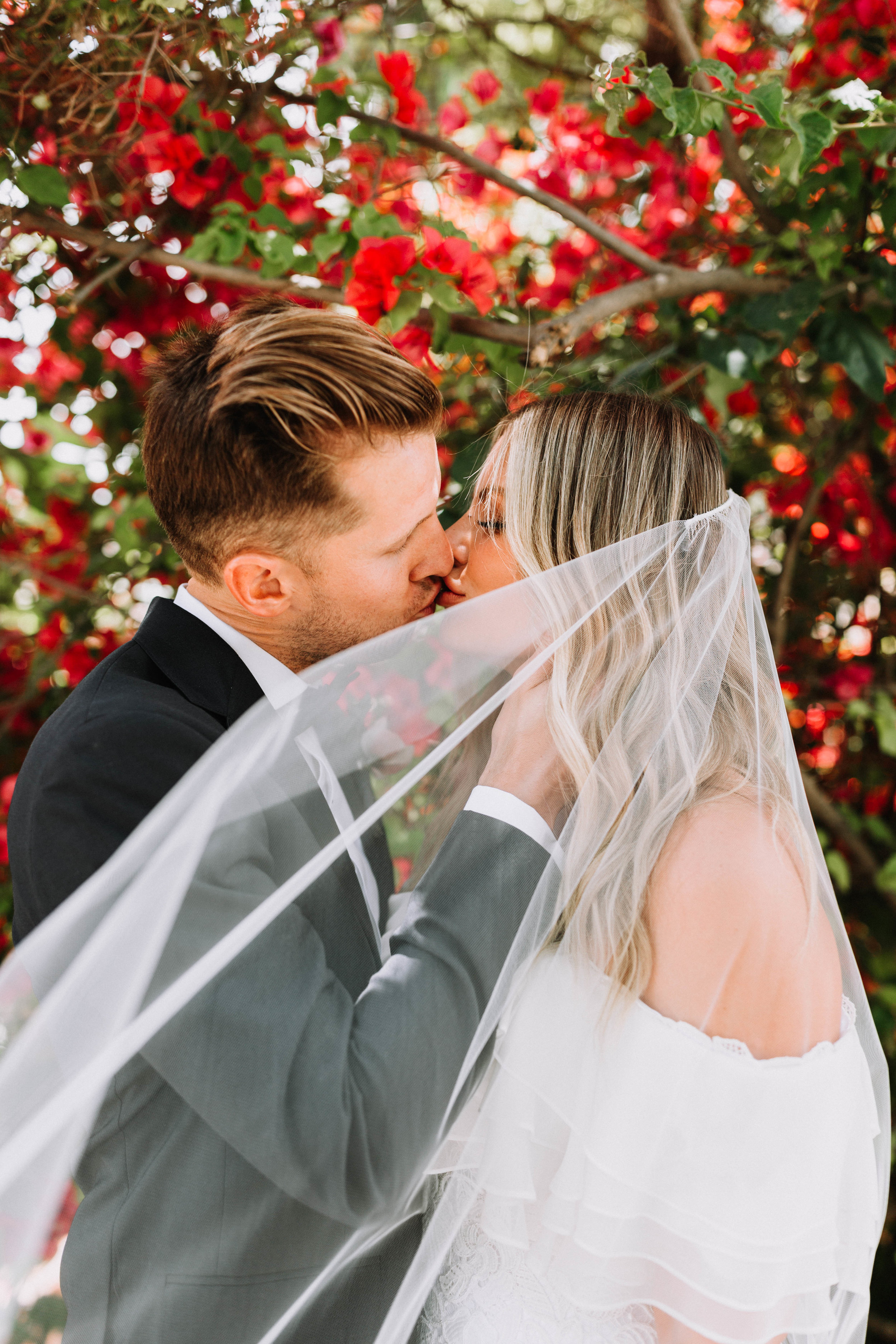 WEDDINGKATHERINE + JORDAN - The most beautiful backyard wedding, full of gorgeous details, from heirloom persian rugs, custom wedding gowns, purple bread, and a sparkler grand entrance to dragonfly pendants and Parasols