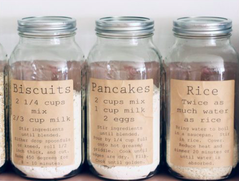 I love this idea -solving the problem of when you empty a packet into a jar and then lose the cooking instructions or use by date.