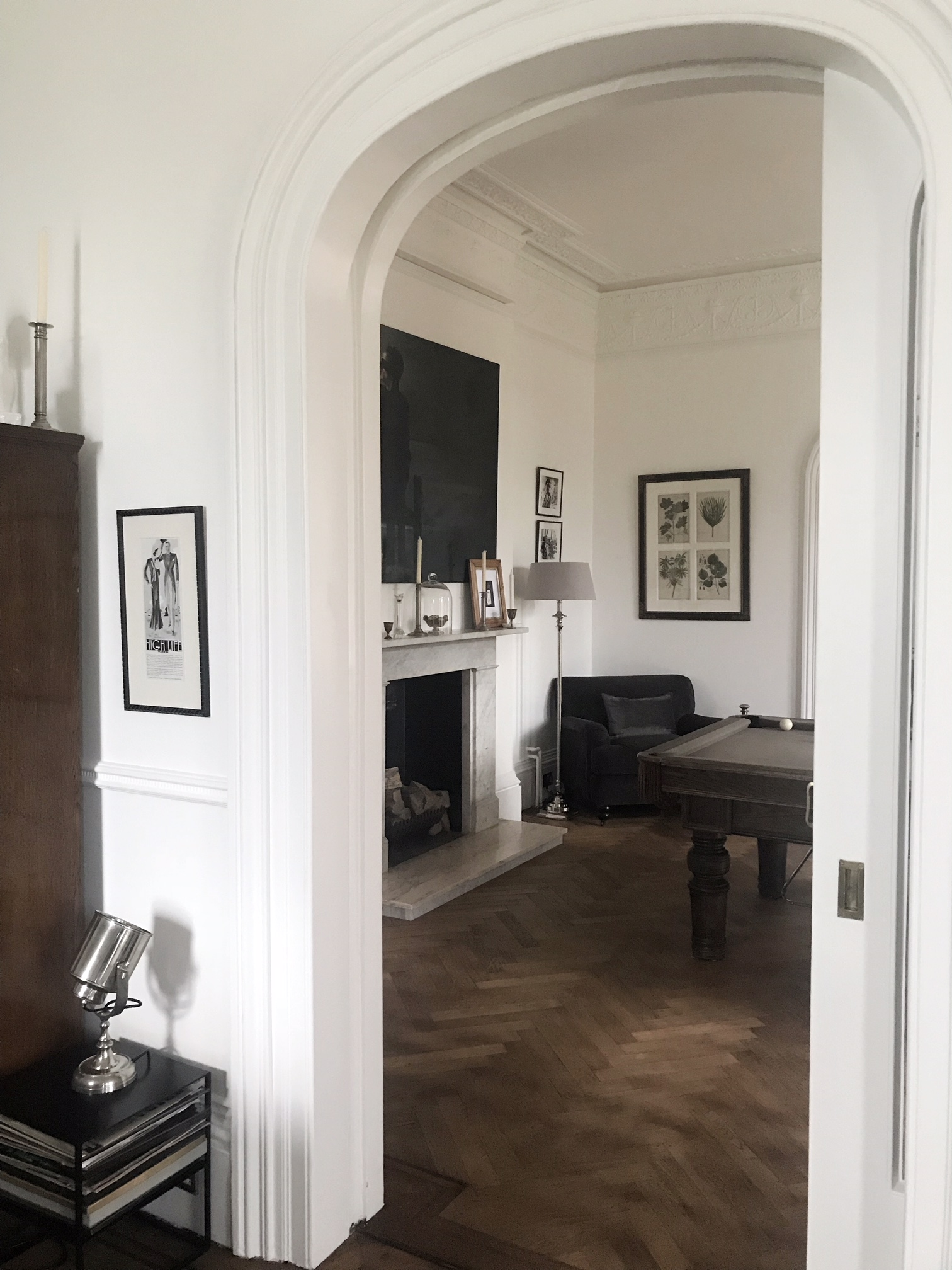 looking through from the sitting room to the games room.