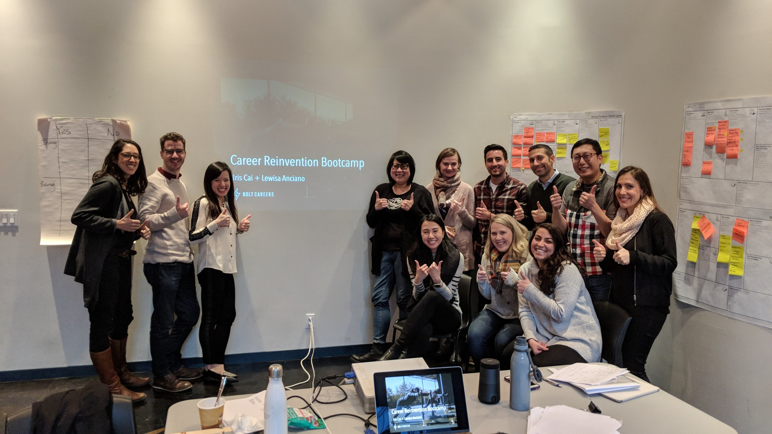 First class of Career Reinvention Bootcamp participants